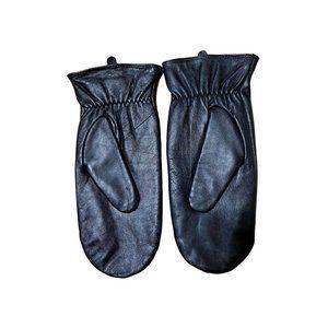 NWOT Merona Sheep Skin Leather Black Mittens